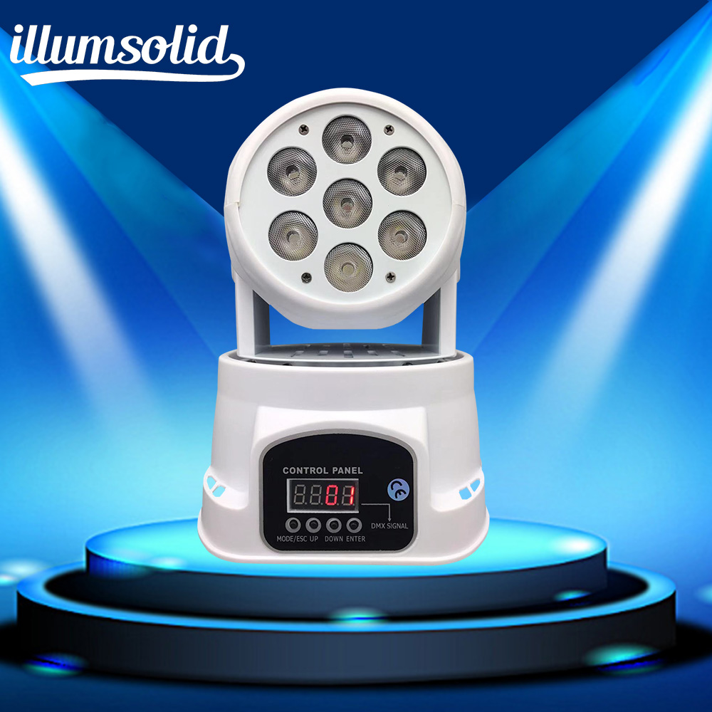 7x12W RGBW 4in1 Mini moving head LED stage lights Dj stage light disco party light