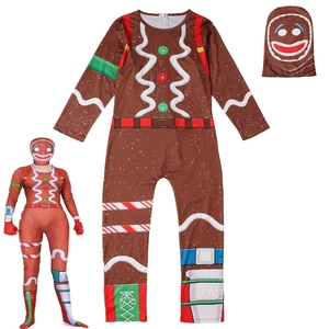 Image 5 - Kids Boys Skull Trooper Raven Cosplay Jumpsuit Halloween Party Costume Battle Royal Children Carnival Purim Clothes Set  4 18 Y