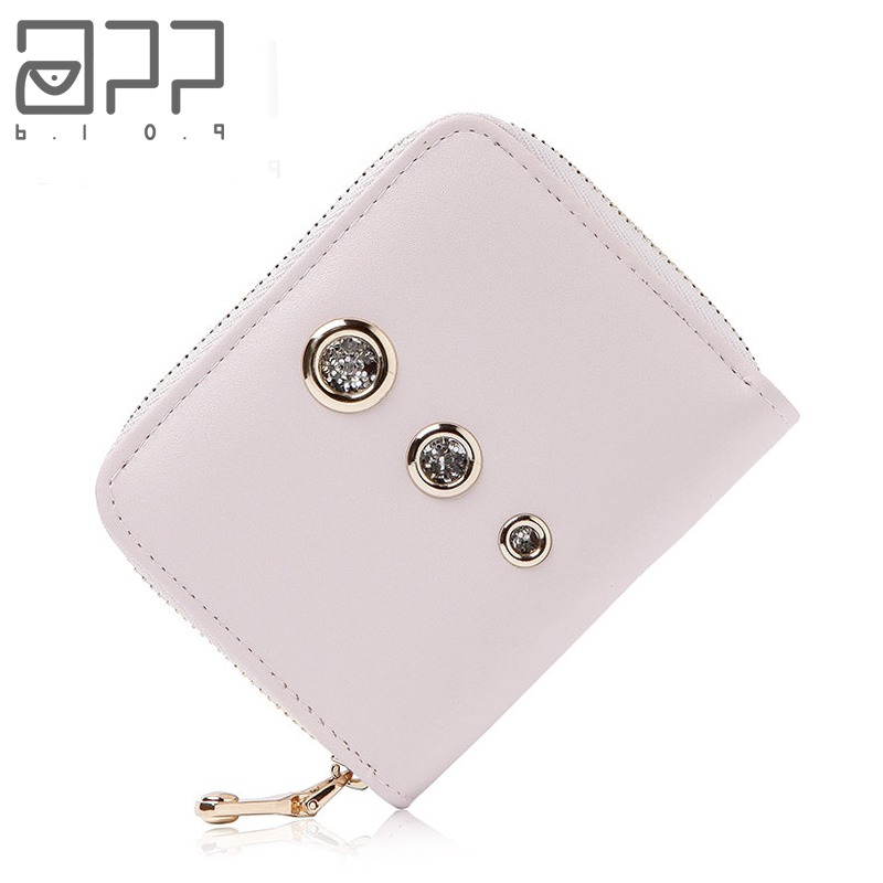 APP BLOG Brand Women's Wallet Coin Purse 2017 Newest Fashion Small Short Clutch Female Leather Purse Card Holder Invoice Bags