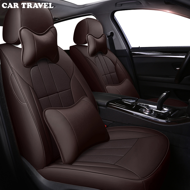 CAR TRAVEL leather car seat cover for HYUNDAI SantaFe Coupe Azera Grand SantaFe Santa Fe Veracruz matrix Equus ROHENS Veloster