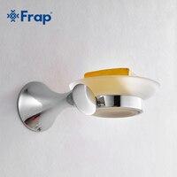 Zinc Alloy Chrome Soap Dishes Brand Bathroom Accessories Glass Dish Soap Holder F3502