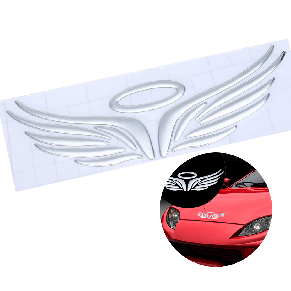 Car mirror sticker design - 1pcs Car 3d Sticker Angel Wings Eudemon Stereoscopic Rearview Mirror Reflective Sheeting Decal Waterproof Auto Decoration