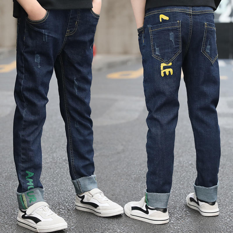Kids Jeans Boys Clothes 2019 Spring Autumn Jeans For Kids Teens Baby Boy Denim Pant Long