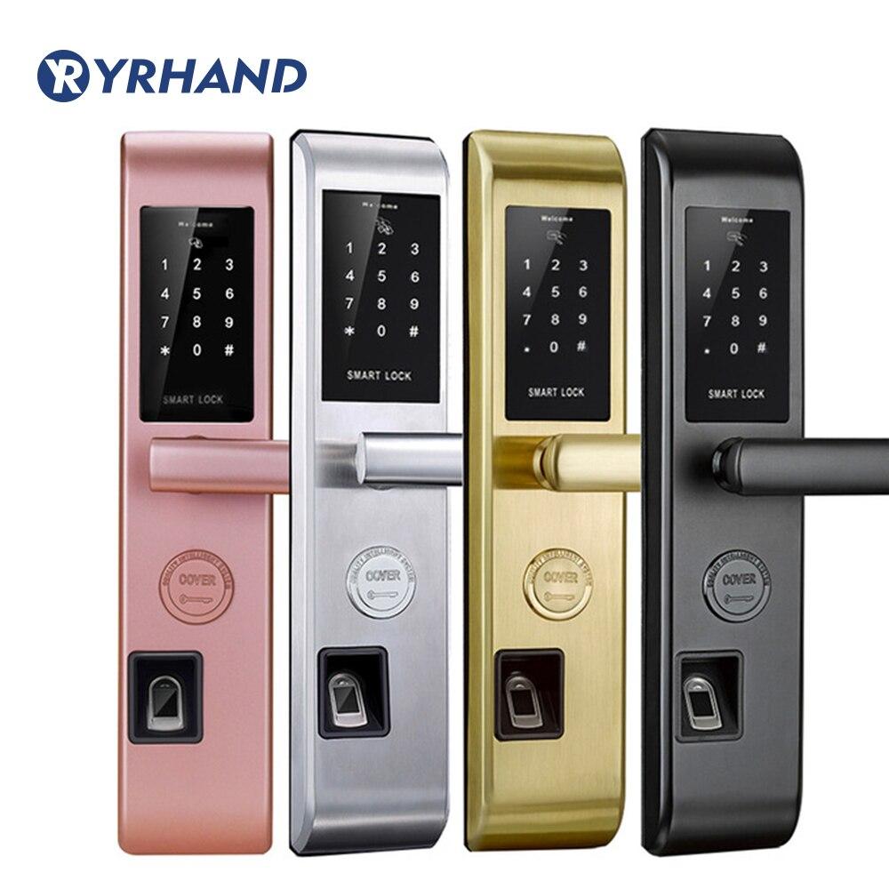 Serrure de porte d'empreinte digitale Wifi serrure de porte antivol serrure intelligente sans clé avec mot de passe numérique RFID déverrouillé par APP, Code, carte, clé