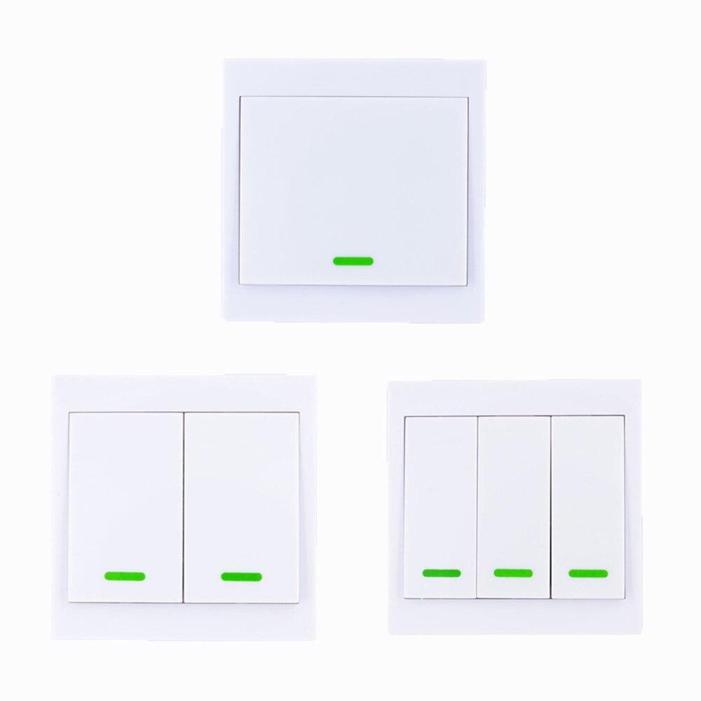 86 émetteur à distance sans fil de panneau de mur 1 2 3 canaux collant RF TX intelligent pour la chambre 315/433 MHz de salon à la maison