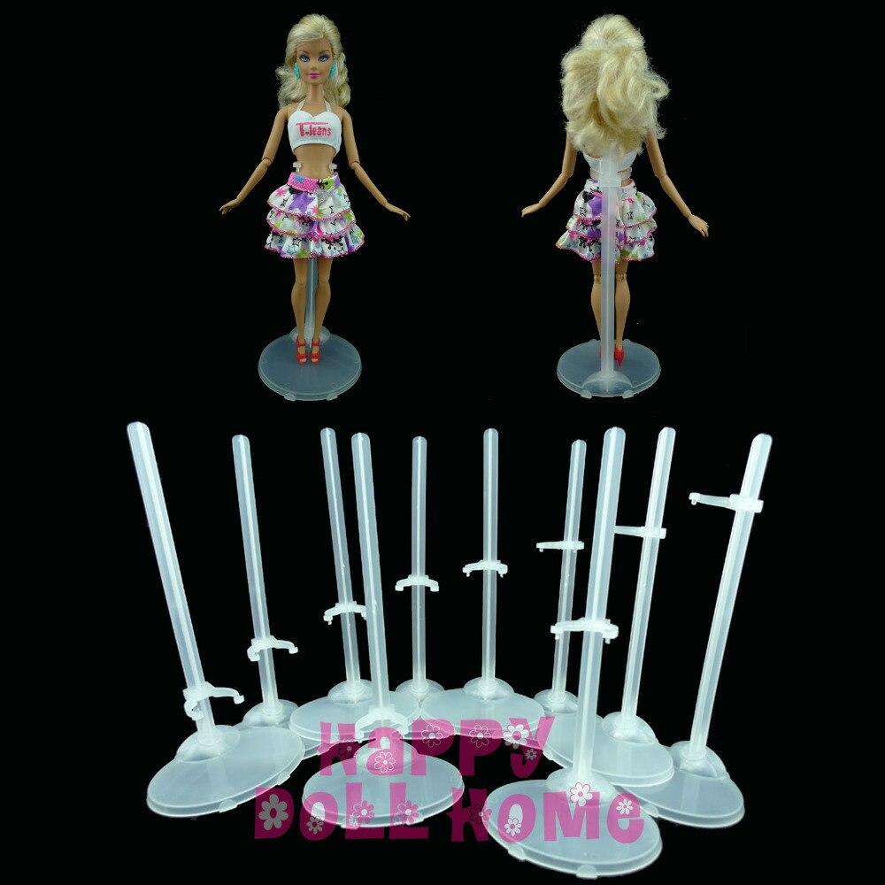 Անվճար առաքում Թափանցիկ տիկնիկների ստանդարտ ցուցադրման սեփականատեր Barbie տիկնիկային կահույքի պատրաստման համար մինչև մանեկենների մոդելը Նկարների պարագաներ նվեր