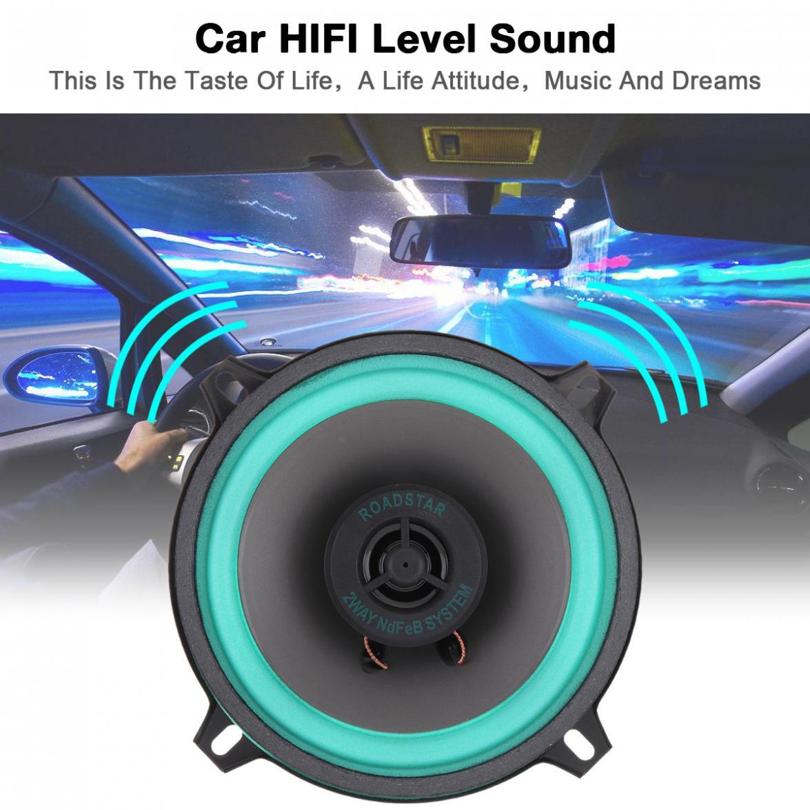 1 шт. 5 дюймов 100 Вт Универсальный Автомобильный HiFi коаксиальный динамик для двери автомобиля Авто Аудио Стерео полный диапазон частоты дина...