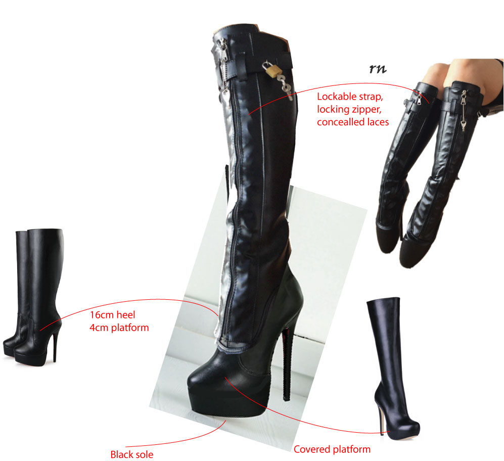 Sorbern Custom Knee High Boots Women Lace Up Boots Goth Shoes Women Platform Shoes Pole Dance High Heel Boots Lockable Zipper ixgh48n60a3 to 247
