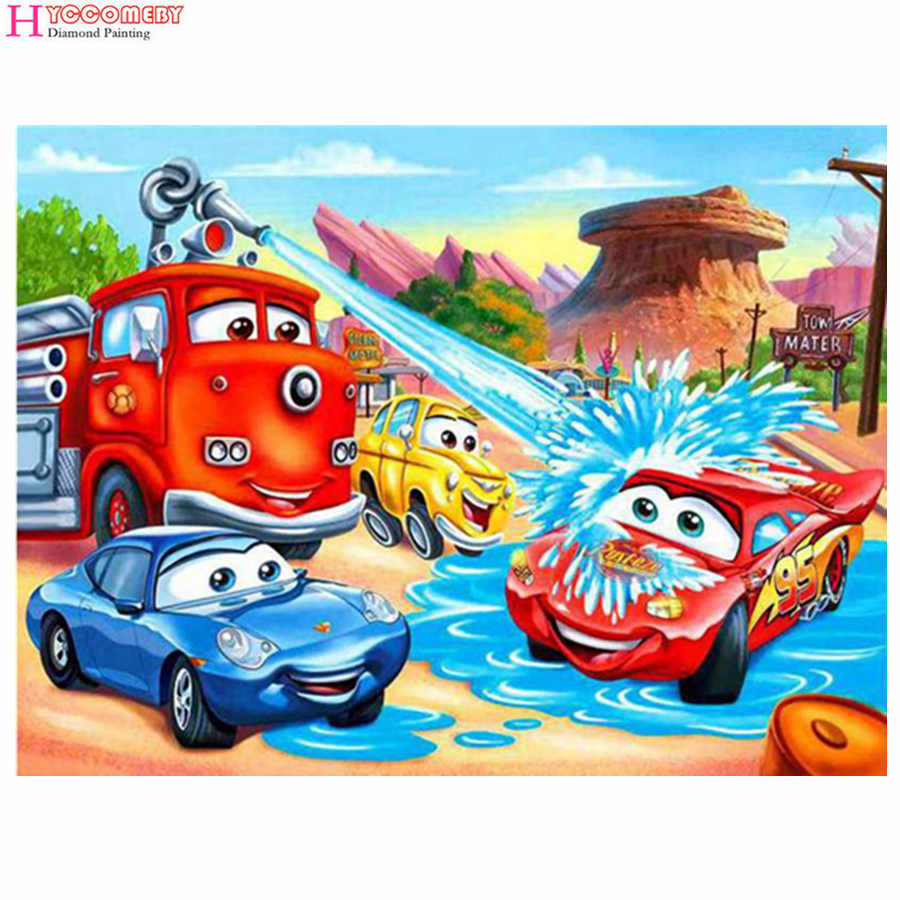 Cartoon Anime kind Auto Diamant Malerei Diamant Stickerei Voll Paste Kreuz Stich Hause Dekoration Gemälde
