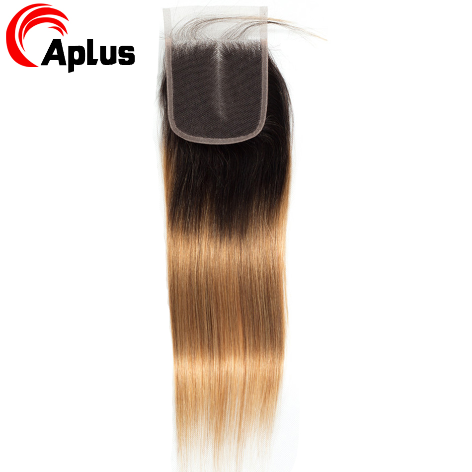 HTB1IlaBKuuSBuNjSsziq6zq8pXa5 Aplus Hair Peruvian Ombre Bundles With Closure Straight 1B/27 Honey Blonde Bundles With Closure NonRemy Human Hair Weave Closure