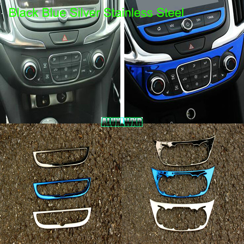 Car interior control console panel decorative cover trim for Chevrolet  Holden Equinox Third GE 2018 2019 2020 auto Accessories