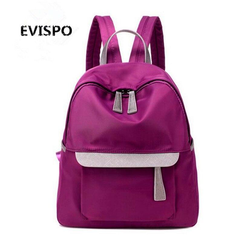 EVISPO 2016 Women Backpacks Small Chest Back Pack Shoulder Bags Mochila Femininas Vintage School Bag for
