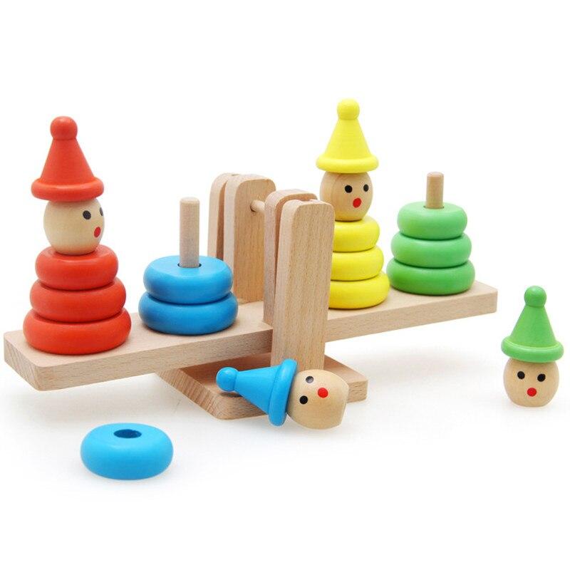 Игрушки для детей oyuncak Монтессори клоун Building Block баланс развивающие игрушки материалы деревянные Juguetes Математика Детские Brinquedos