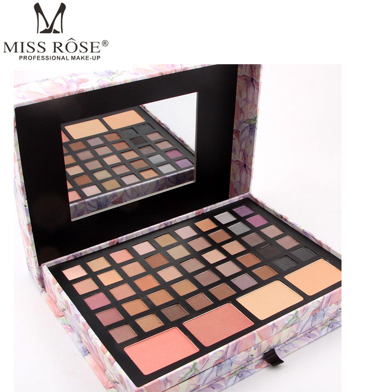 MISS ROSE Matte Eyeshadow Pallete Set Earth Nude Color Make Up Palette Glitter Eye Shadow Box Lasting Professional Makeup Set professional make up 144 color eye shadow 3 color blush 3 color eyebrow powder makeup set box