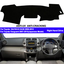 Taijs Auto Dashboard Cover Dash Mat Voor Toyota RAV4 Vanguard XA30 2006 2007 2008 2009 2010   2012 Dashmat Pad dash Board Cover