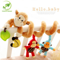 Cute Infant Baby Play Rattle Toy Plush Multipurpose Bed Hanging Playpens Musical Rattles Baby Stroller Toy