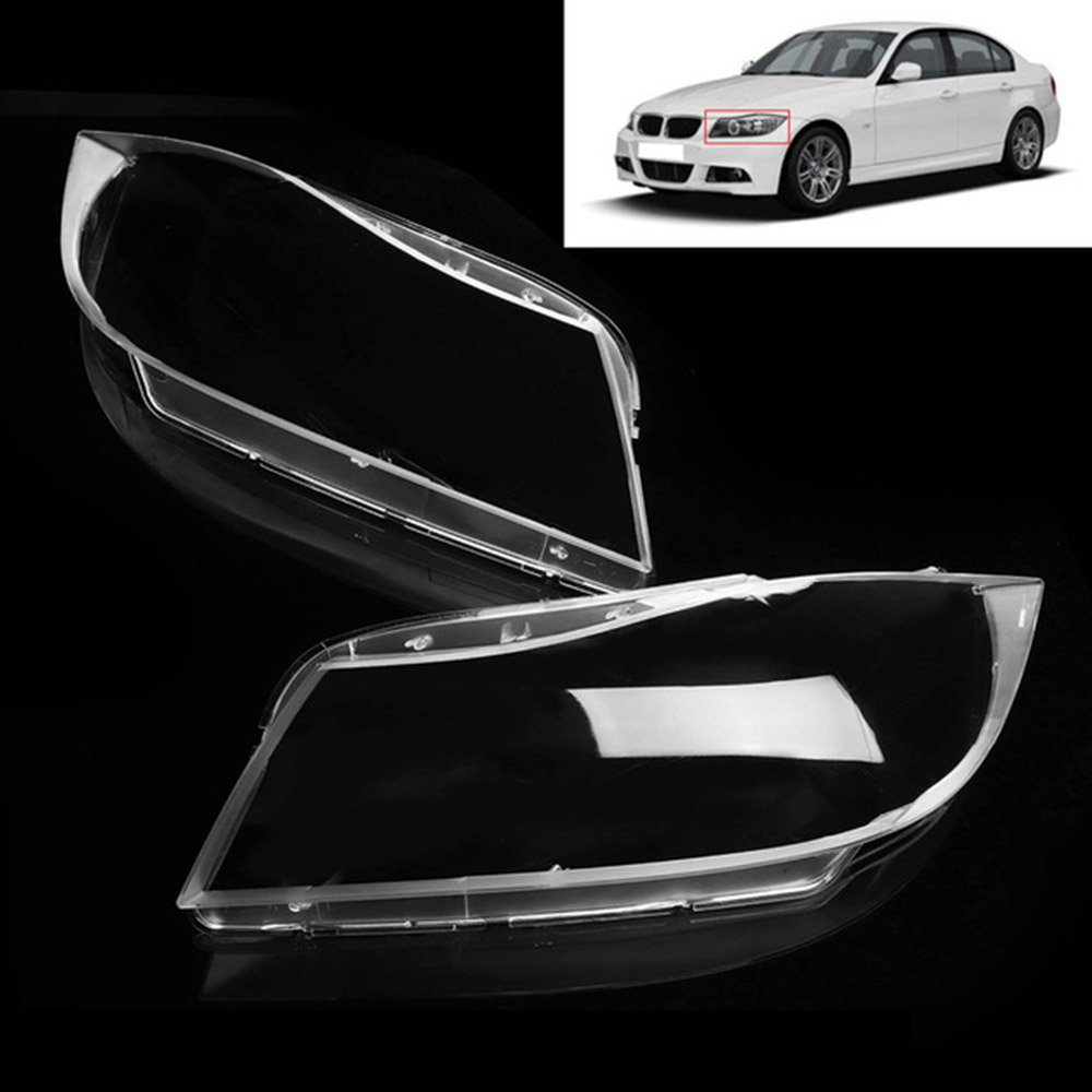 Left/Right Side Headlight Cover Lamp shell Assembly Lampshade For BMW 3 Series E90 2005-2012 Plastic Clear Transparent Housing pair car front headlamp clear lens headlight plastic shell clear cover for bmw e90 e91 2004 2005 2006 2007