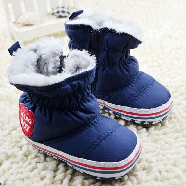 5394c26d49f1 New female male infant winter boots soft soled baby toddler boots ...