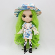 Middie Blythe Doll Camo Braces Skirt with Shirt Hat & Socks