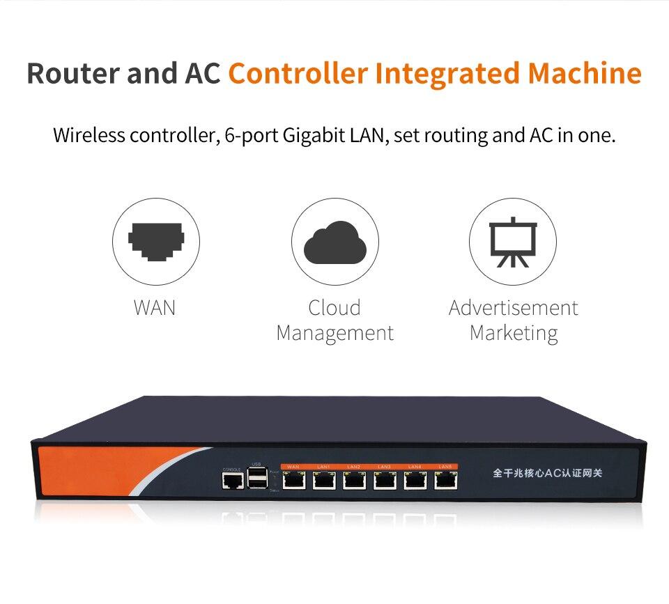 Routeur ca Gigabit 6 ports passerelle de base Wifi charge d'entreprise équilibrage multi-wan Wifi projet contrôleur d'itinérance Comfast CF-AC300