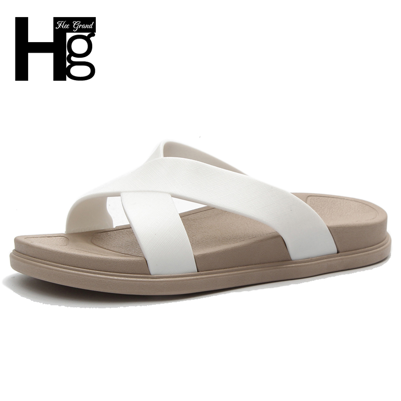 HEE GRAND Women Summer Solid Slides Casual Shoes Platfrom Slippers Flats Creepers Wtih Women Fashion Shoes size 36-40 XWT1142 hee grand 2017 bowtie slippers platform sweet solid slides summer casual flats shoes woman slip on creepers xwt851