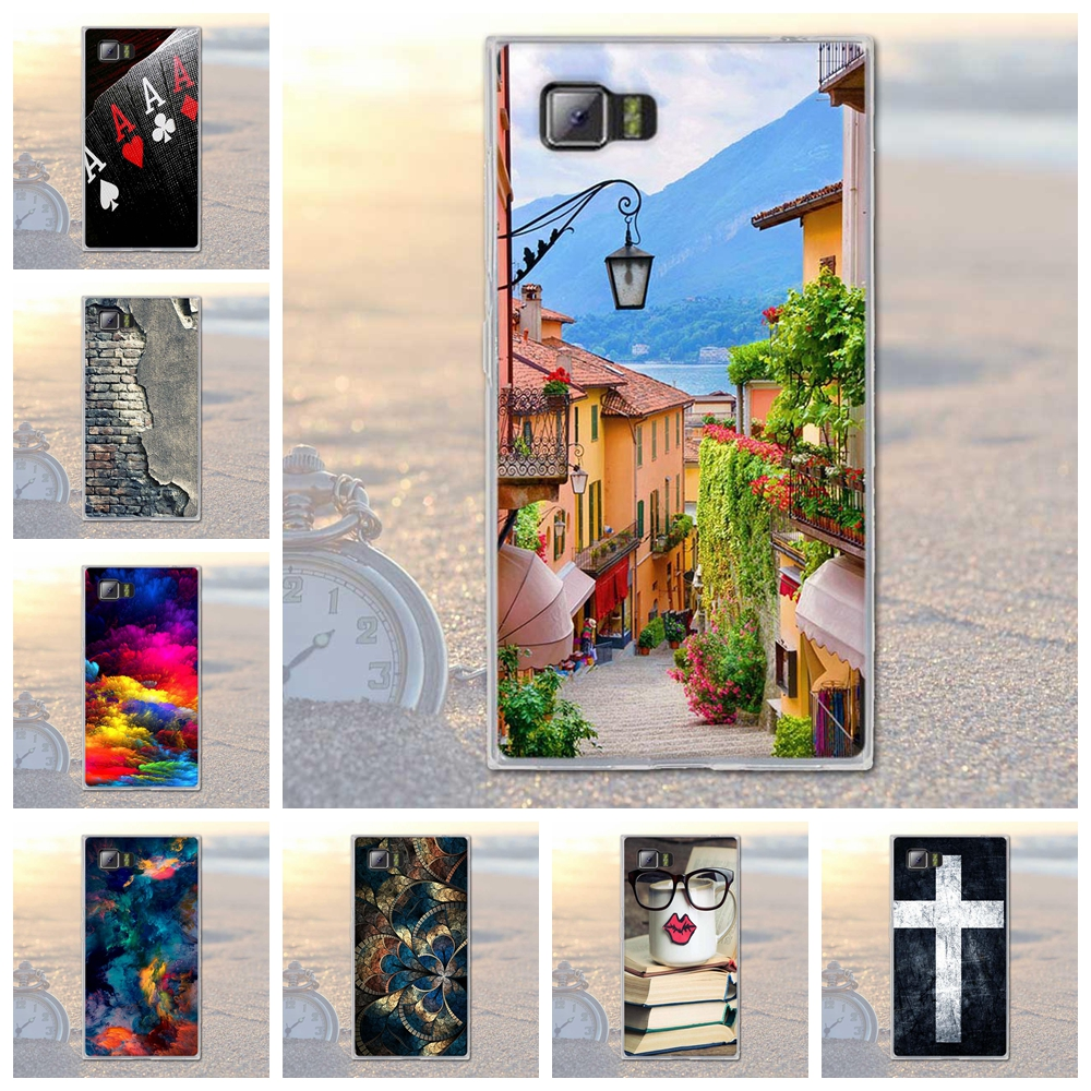 "Phone Case for Lenovo VIBE Z2 / K920 Mini 5.5"" Painted TPU Soft Silicone Cover Shell Scenery Print Case for Lenovo Vibe Z2 Bags"
