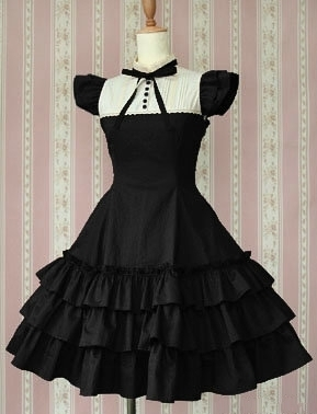 A34 Long Sleeveless Sweet Lolita Short Dress Ball Gown Fancy Prom Dress Halloween Party Masquerade Costume