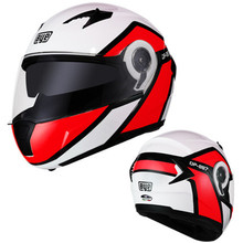 купить Flip up motorcycle helmet Dual lens system racing helmet BYE BRAND DP-997 model removable and washable lining ECE DOT approved дешево