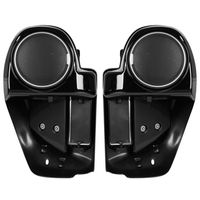 Motorcycle Gloss Black 6.5 Speaker Box Lower Vented Fairing Leg For Harley Touring FLHX FLTRX Road Glide 2014 18