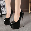 2016 New Fashion Sexy  Round Toe Women Pumps Platform 16cm High Heels OL Work Shoes Women Party Pumps  Shoes