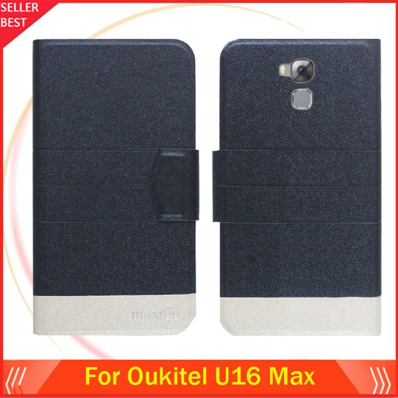 5 barev Factory Direct !! Oukitel U16 Max pouzdro vyhrazené Flip módní luxusní kožené ochranné 100% speciální kryt telefonu