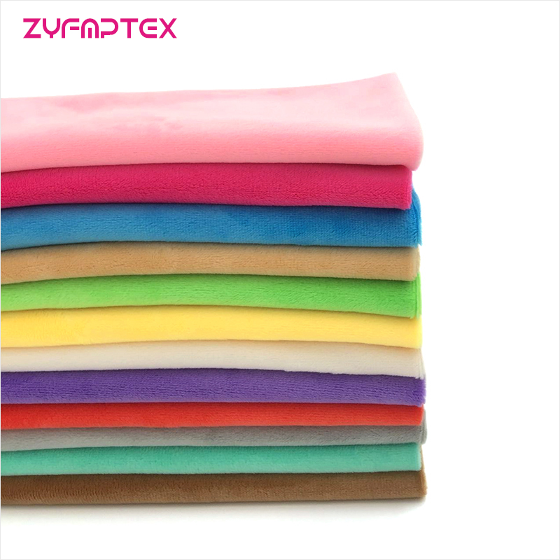 ZYFMPTEX 1Pcs Minky Fabrics For Sewing DIY Handmade Home Textile Cloth For Toys Plush Fabric Patchwork Solid Color Style 45*50cm