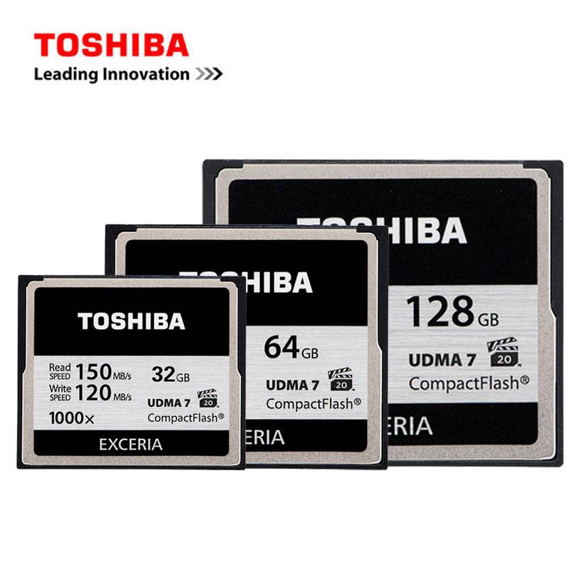 TOSHIBA CF Card 32G 64G 128G 1000X Camera Memory Card UDMA 7 High-Speed 150M Compact Flash Card Applicable Digital/DSLR Cameras карта памяти other compactflash cf 64 128 32 16 1066 x udma 7 160 cf 1066x