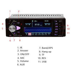 Image 4 - Hikity 자동차 라디오 1 din 4022d FM 라디오 자동차 자동 오디오 스테레오 블루투스 자동 라디오 지원 후면보기 카메라 스티어링 휠 Contral