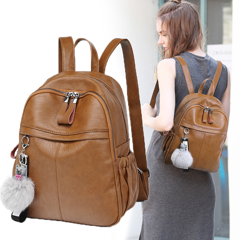 High Quality Genuine cow skin Women Backpack Fashion Solid School Bags For Teenager Girls Casual Women Black Backpacks цена