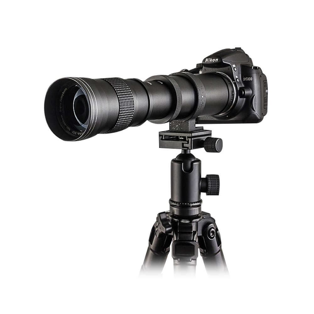 Mcoplus Super Telephoto Lens Manual Zoom Lens for Canon 5D II 6D 7D 50D 60D 70D 550D 600D 650D 700 420-800mm F8.3-16 DSLR Camera