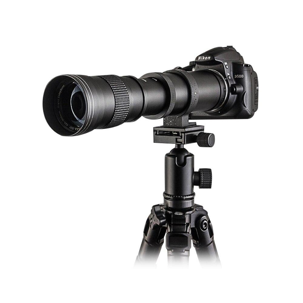 Mcoplus Super téléobjectif objectif Zoom manuel pour Canon 5D II 6D 7D 50D 60D 70D 550D 600D 650D 700 420-800mm F8.3-16 appareil photo reflex numérique