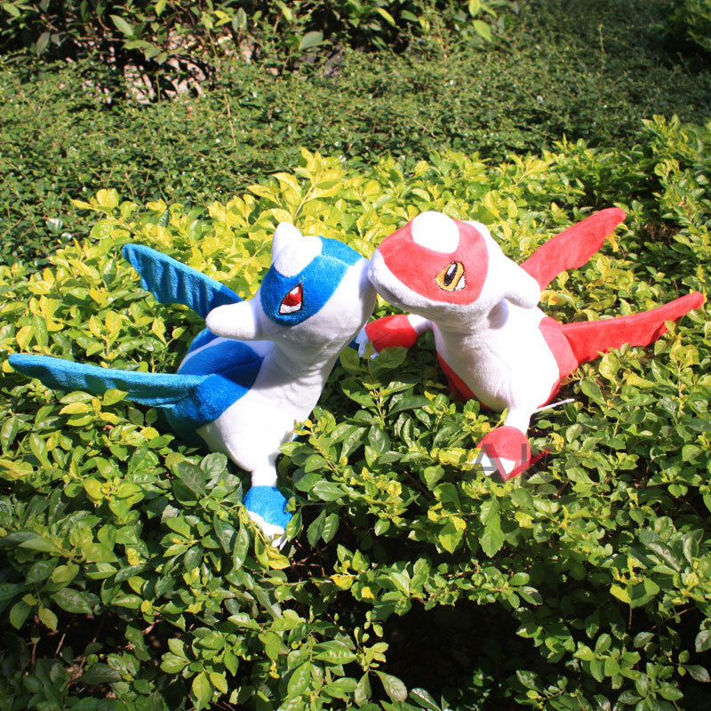 1pc 30cm Pokemon Snap Plush Dolls Birthday Gift Pokemon Latias Plush Toys Red and Blue Color