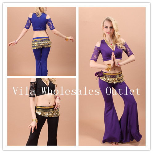 New 2018 Women Belly Dance Top Womens Shirts Bellydance Top Indian For Dancing Free Shipping 5 colors 1pc Top Only