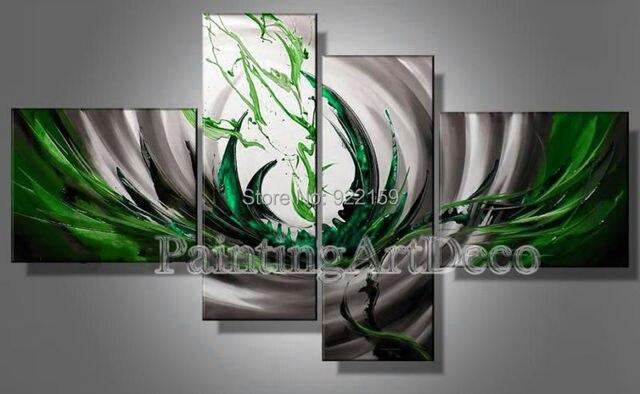 paredes pintadas a mano unidades modernas pinturas al leo abstracta en la lona de arte