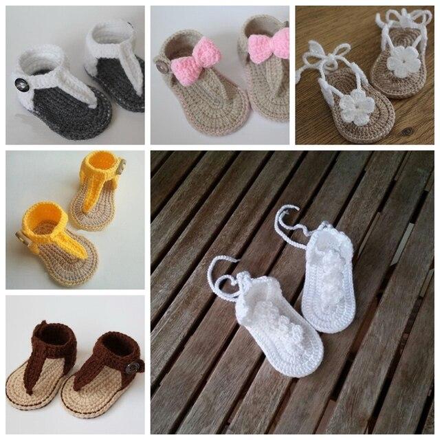 Freies Verschiffen Sommer Häkeln Baby Sandalen Gladiator Sandalen