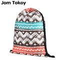 2018 NEW geometry 3D printing drawstring backpack Women Classic forever brand mochila escolar Travel waterproof drawstring bag