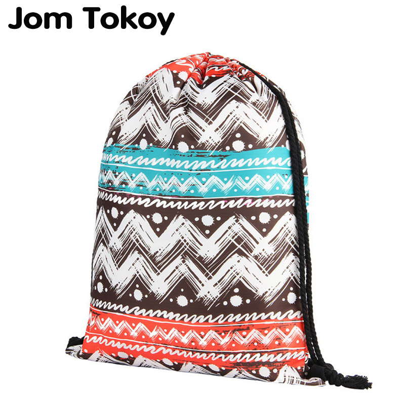 2019 NEW geometry 3D printing drawstring backpack Women Classic forever  brand mochila escolar Travel waterproof drawstring bag