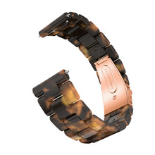 Unversal Stainles Steel Resin Replacement Strap for Samsung Galaxy Watch Active Samsung Gear Sport TicWatch E Garmin vivoactive3
