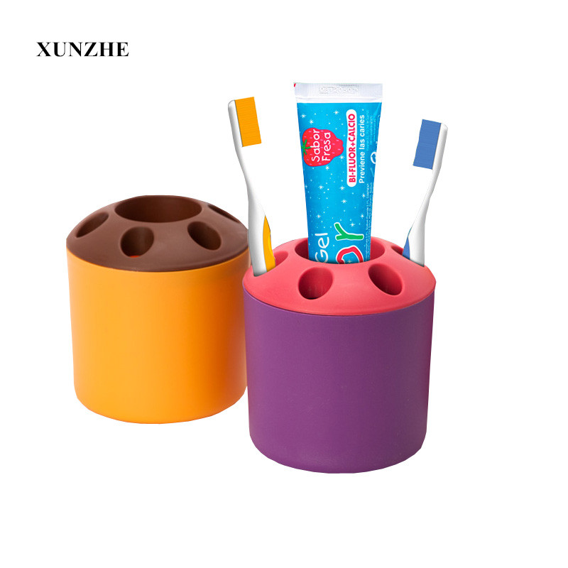 1PCS Multifunction Storage Box Cartoon Toothbrush Holder Storage Box Bathroom Accessories Paste Container For Bathroom Set Box