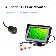 freeshipping 4.3 inch For DVD VCD Reverse Camera Car Monitor Color TFT LCD Mini Parking Monitor Screen