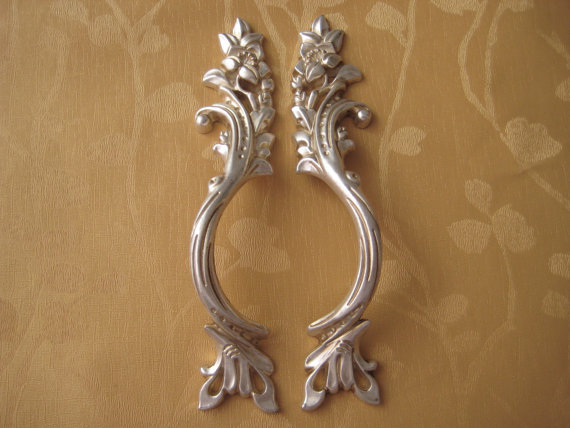 shabby chic dresser pulls drawer pull handles bail pulls antique