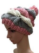Осень зима цветами шляпа прыщ 100% ручной вязаная шапка улица мода шапочки открытый лыжные шапки бесплатная доставка
