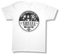 Возьмите Nirvana 20th Юбилей диск белая футболка новый официальный Курт Кобейн группа