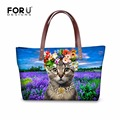 Famous Brand Designers Cute Animal Face Women Handbag Shoulder Bag 3D Cat Head Tote Large Capacity Female Travel Top Handle Bags